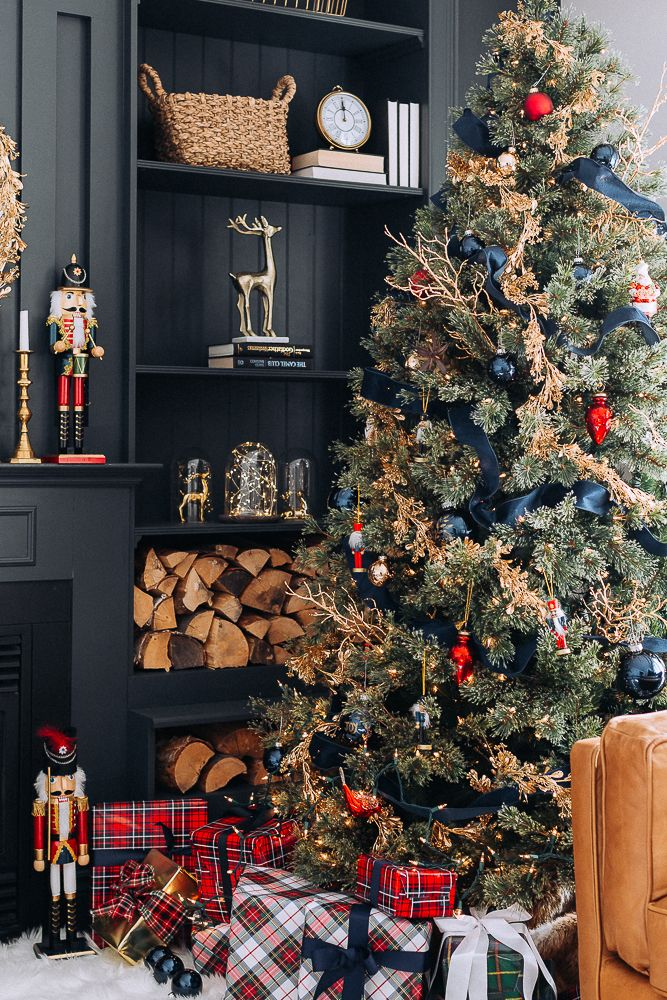 Thistlekeeping Christmas Tree Inspiration Red And Gold