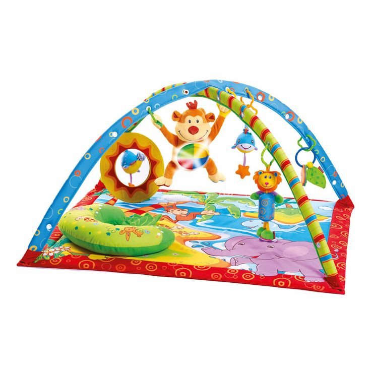 Tapis Gymini Sons & Lumières Monkey Multicolore de Tiny Love, Tapis d'éveil : Aubert