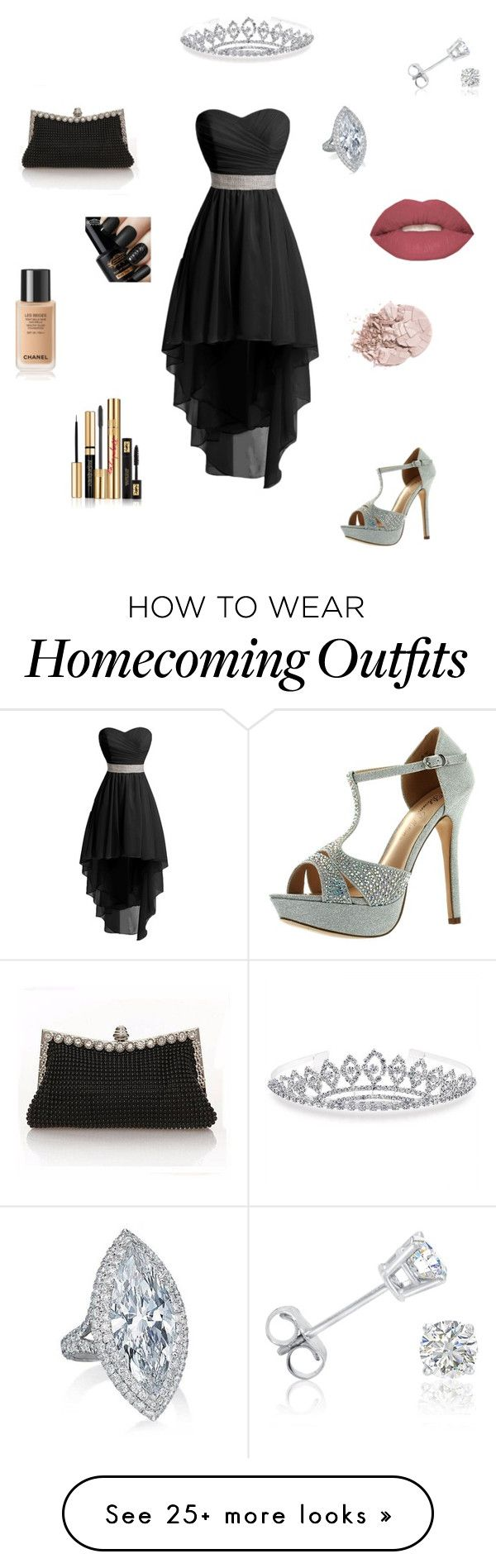 """""""Prom #6"""" by balletlover15 on Polyvore featuring De Blossom, Bling Jewelry, Amanda Rose Collection, Smashbox and Yves Saint Laurent"""