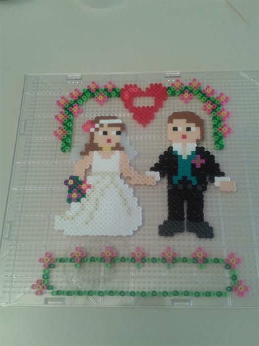 Wedding perler beads by Kimberly H.