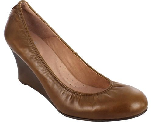 2.5 Wedge Pump Antique Brown Napa Leather  - 1