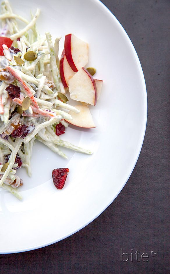 Apple Broccoli Cranberry Salad - Autumn on a plate!