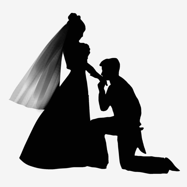 Black Minimalist Groom Bride Silhouette Bride Clipart Simple Black Png Transparent Clipart Image And Psd File For Free Download Bride Silhouette Silhouette Png Black Background Painting