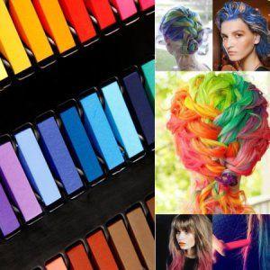kit de 24 couleur coloration cheveux teinture craie crayon temporaire coiffure par boolavard - Coloration Cheveux Craie