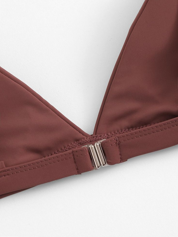 Ad: Triangle Top With High Cut Bikini Set. Tags: V neck, Triangle, High Cut, Sex... 1