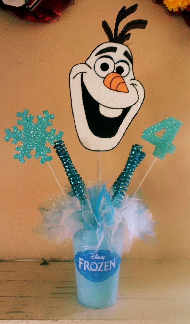 Disney s frozen quot olaf centerpiece birthday party baby