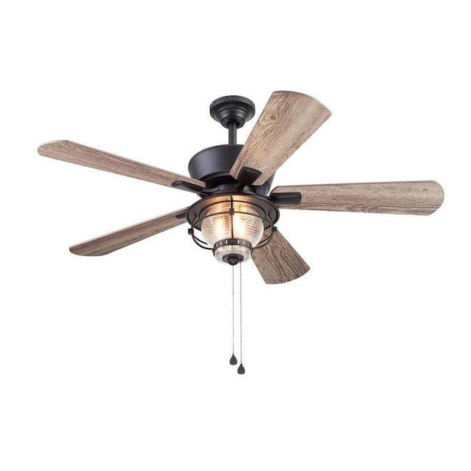 Harbor Breeze Merrimack Ii 52 In Matte Bronze Led Indoor Outdoor Ceiling Fan With Light Kit 5 Blade Lowes Com In 2020 Ceiling Fan With Light Fan Light Outdoor Ceiling Fans