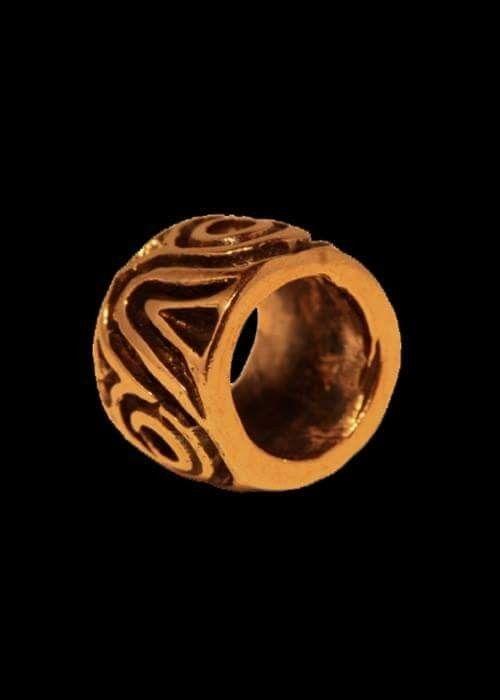 Bronze perle: 80 kr ca 6 x 9 mm