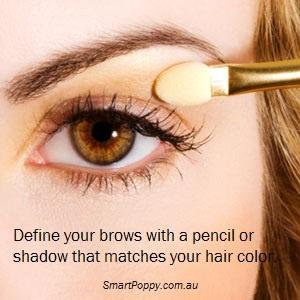 #Makeup #Tip: Define your brows with a pencil or shadow that matches your hair color.: Brown Eye, Applying Eyeshadows, Brown Shades, Diy Beautiful, Eye Shadows Tutorials, Tips, Eye Shadows Application, Eyeshadows Makeup, Eye Shield