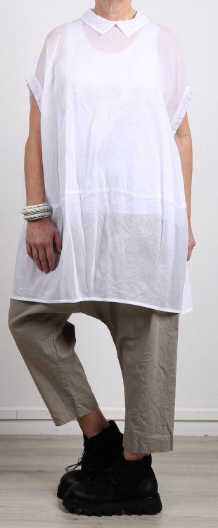 rundholz - Bluse in Ballonform Cotton white - Sommer 2017