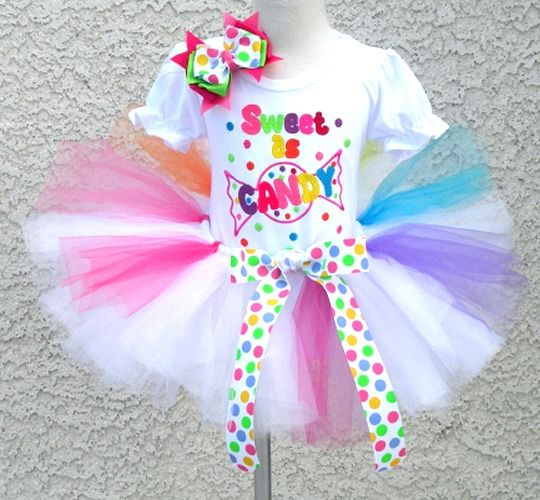 Candy Land Themed Birthday Outfit For Girls