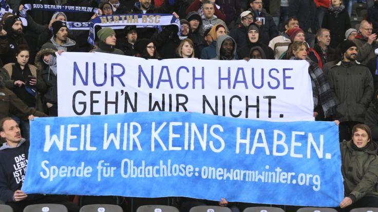 ICYMI: #heimvorteilfüralle – Hertha BSC und One Warm Winter für Obdachlose #hypesrus @hypesrus