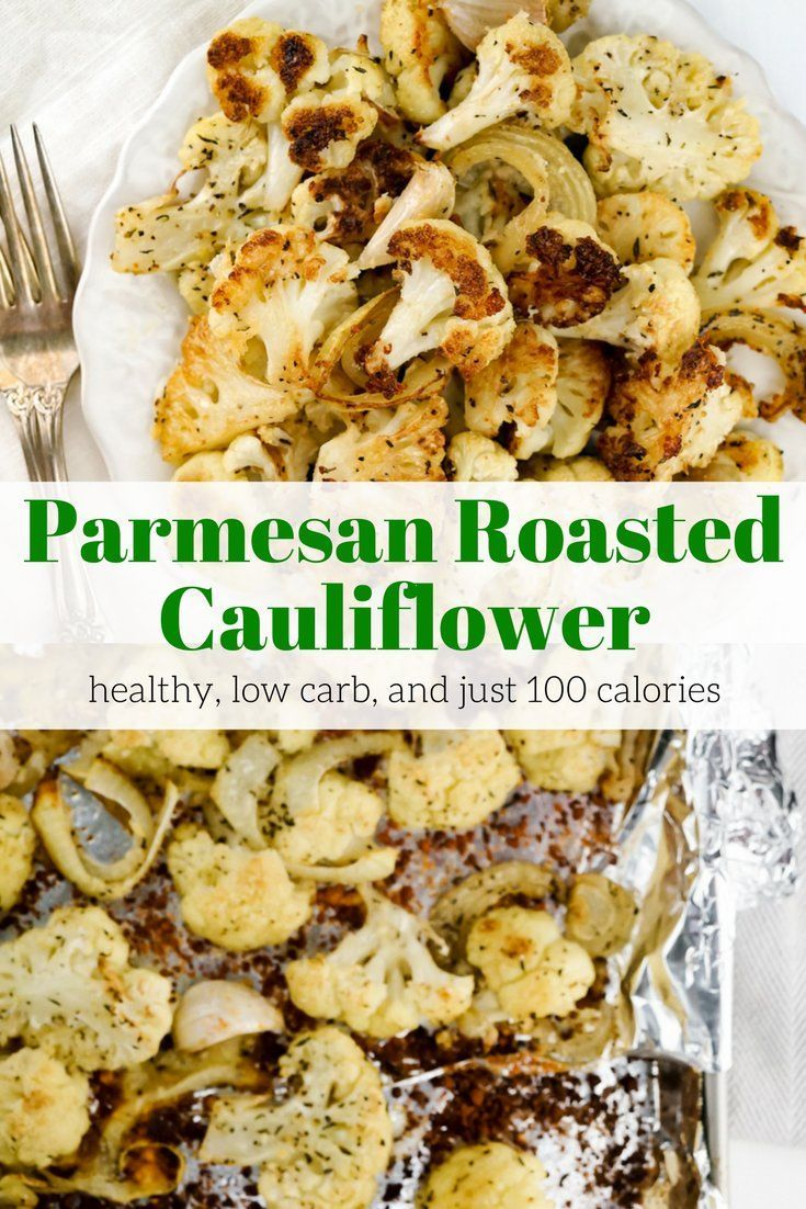 Parmesan Roasted Cauliflower - Slender Kitchen. Works for Gluten Free, Low Carb, Vegetarian and Weight Watchers® diets. 102 Calories.