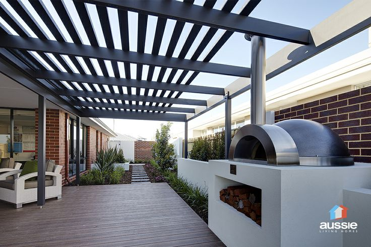 Woodfired oven under the stars. The Insight by Aussie Living Homes. See more at http://www.aussielivinghomes.com.au/home-designs/display-homes/the-insight.aspx