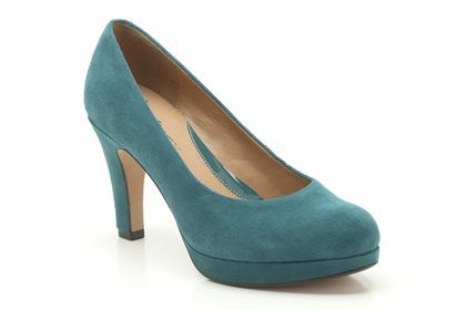 Anika Kendra in Teal Suede from Clarks