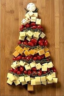 When the crowd arrives for holiday revelry, wow them with this wonderful Christmas tree cheese board made from different flavored cheese cubes