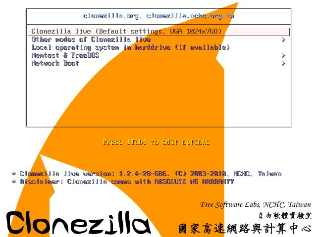 Clonezilla 2.4.2-10 Clonezilla is a partition and disk imaging/cloning program similar to True Image® or Norton Ghost®. It helps you to do system deployment, bare metal backup and recovery.  #computers #software #freeware