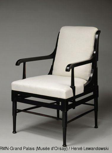 Edward William Godwin, ebonised mahogany armchair, English, c. 1880 | © Musée d'Orsay | JAPANESE INFLUENCE