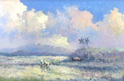 Lucien Frits Ohl - Tanaman Padi (rijst planten)