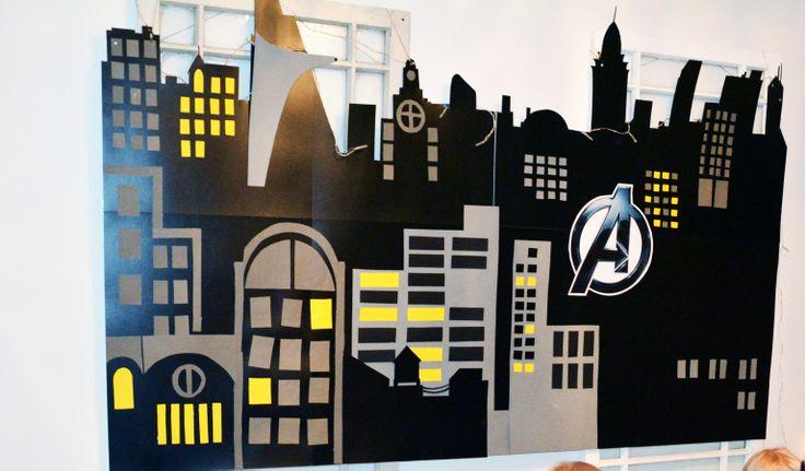 New York City wall for Superman Birthday.