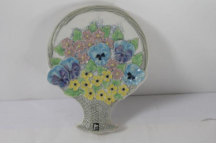 JIE GANTOFTA Keramik Tavla Blommor Nummer: 792 på Tradera.com - JIE,