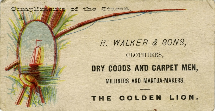 This dry goods trade card presented customers with the compliments of the season to customers in 1870s Toronto, who shopped in what is now the Financial district. Similar in size to a modern business card, this is a little bit longer and slightly narrower than the business cards in your wallet today.