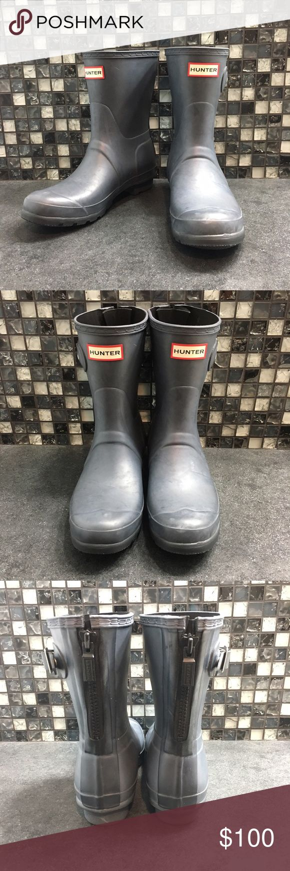NWOT Hunter blue rain boots Brand new without tags blue Hunter brand rain boots. They have never been worn. They zip up in the back and they have buckles on the sides. They're a women's size 8.   🌸BUNDLE AND SAVE  🌸NO TRADES 🌸REASONABLE OFFERS CONSIDER