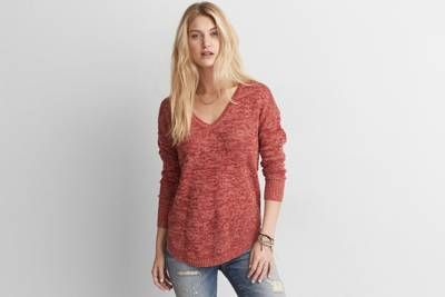 AEO V-Neck Pullover Sweater by  American Eagle Outfitters    Shop the AEO V-Neck Pullover Sweater and check out more at AE.com.
