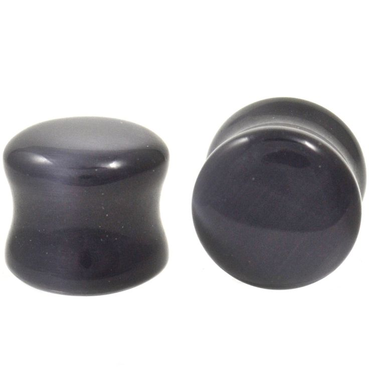 """BodyDazz.com - Black Cat's Eye Gem Stone Ear Plugs (2g-5/8"""") (http://www.bodydazz.com/black-cats-eye-gem-stone-ear-plugs-2g-5-8/)"""