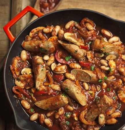 Quorn Meat Free Sausage Casserole. Try this recipe for a healthier sausage casserole, made using Quorn Meat Free Sausages, chestnut mushrooms, pepper, beans and tomato passata. Two of your five a day and high in protein.