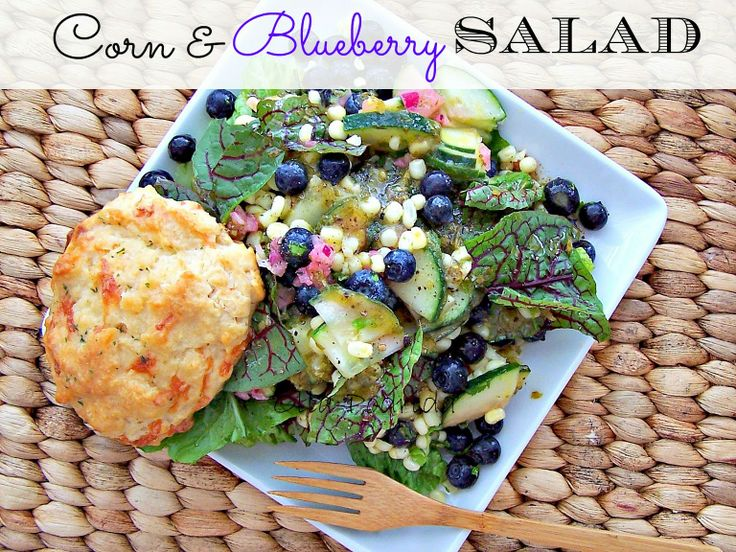 Corn Blueberry Salad | May | Salad Month | Pinterest