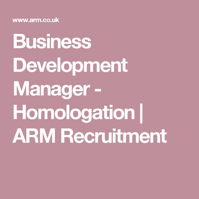 Business Development Manager - Homologation | ARM Recruitment