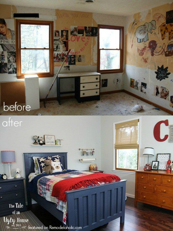 This Room Really Came Together Nicely With Navy And Red For A