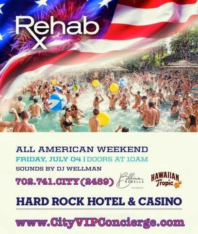 4th of July at REHAB Las Vegas 702.741.2489 City VIP Concierge for Cabanas, Daybeds, Bungalows and the BEST of REHAB 4th of July weekend in Las Vegas!!! #REHABlasVegas #VegasPoolParties #Vegas4thOfJuly #LasVegasPoolParties #VegasCabanas #CityVIPConcierge *CALL OR CLICK TO BOOK* www.CityVIPConcierge.com