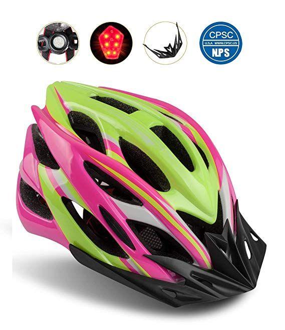 Amazon Com Shinmax Bike Helmet Cpsc Certified Adjustable Light