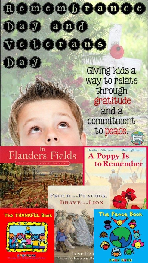 Remembrance Day and Veterans Day - A way for kids to relate through gratitude and a committment to peace.