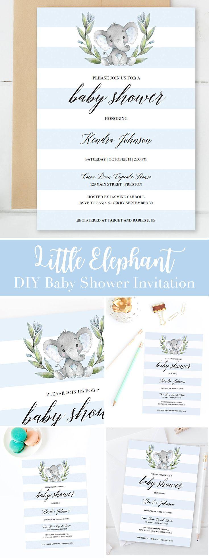 baby shower invites templates