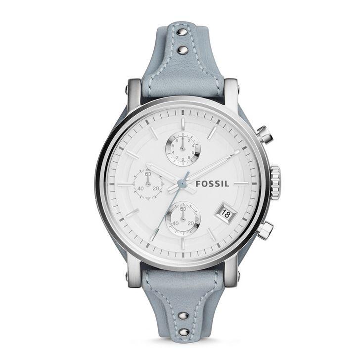 Fossil Original Boyfriend Chronograph Leather Watch - Blue, ES3820| FOSSIL® New This Season