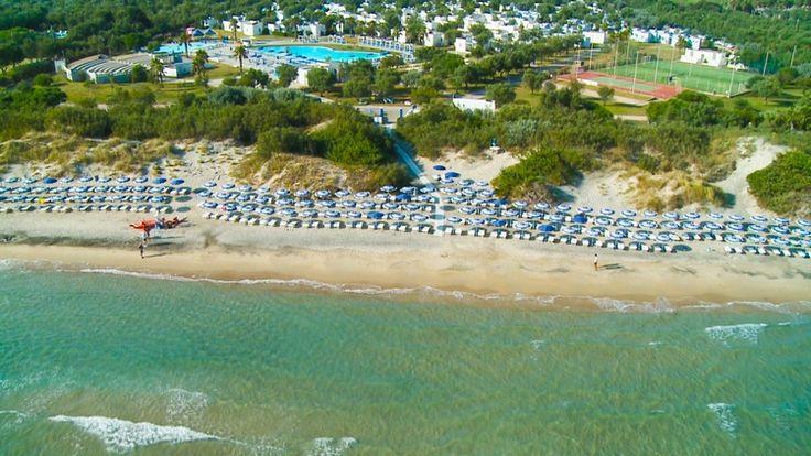 Il Futura Club Torre Rinalda è disposto su un unico livello ed è direttamente sulla spiaggia di sabbia fine circondata da suggestive e millenarie dune.