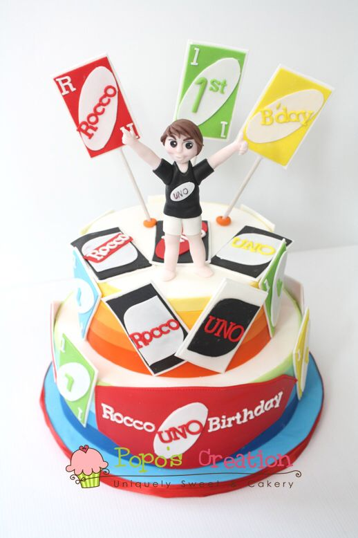 17 Best Images About Uno Cakes On Pinterest Party Cakes