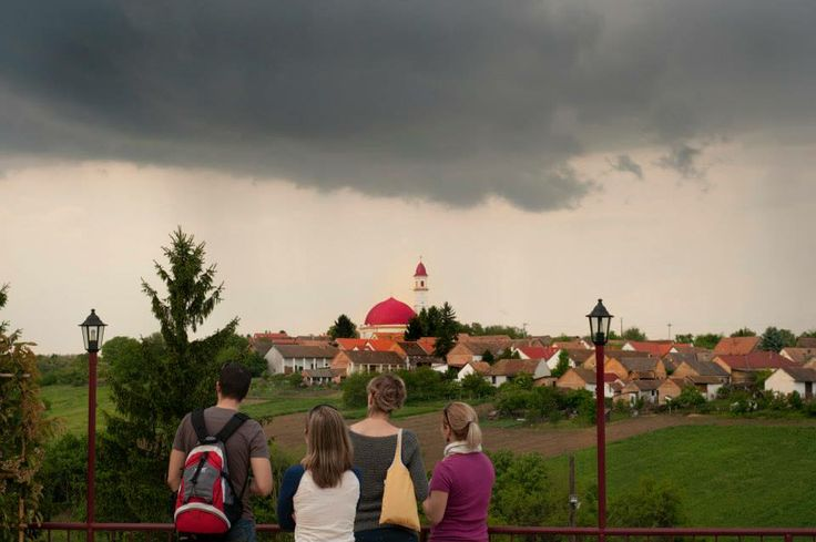 View from the terrace of the Mokos Winery: Stormy weather at Palkonya - Panoráma a Mokos Pincészet teraszáról: Viharos idő Palkonyán.