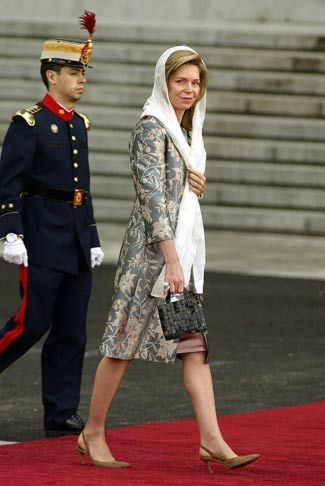 La reina Noor de Jordania.