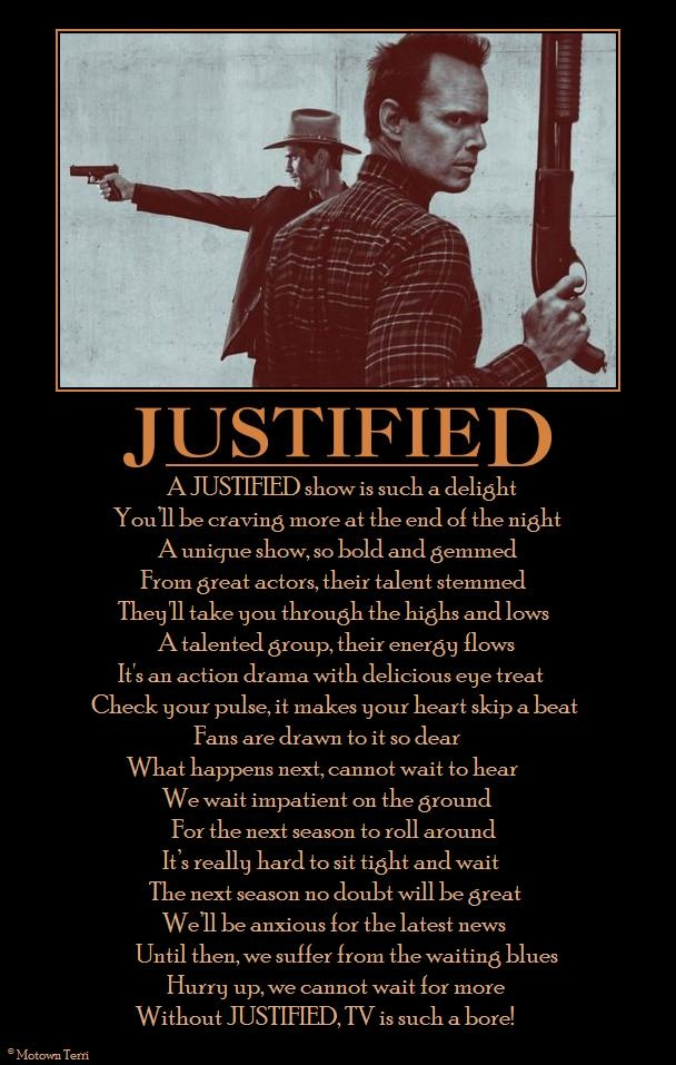 JUSTIFIED. The best show on TV. Waiting for season 5. #Justified  #TimothyOlyphant
