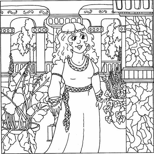 Biblekidseu Anticotestamento Esther Coloring