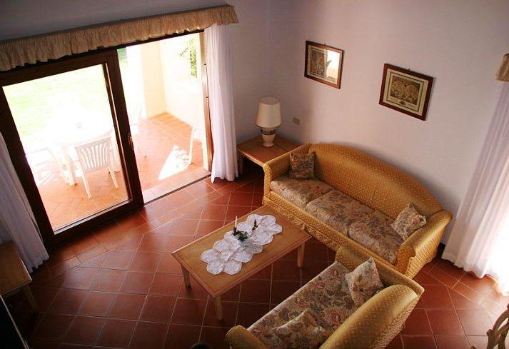 Villa Rosa - salotto dall'alto