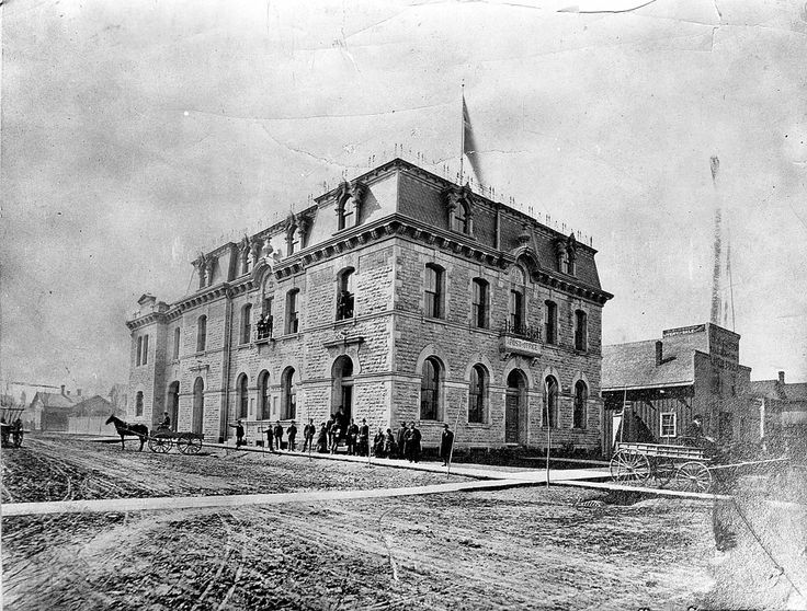 The original downtown Windsor Post Office at the corner of Ouellette Avenue and Pitt Street is pictured in this 1879 file photo. (Files/The Windsor Star)