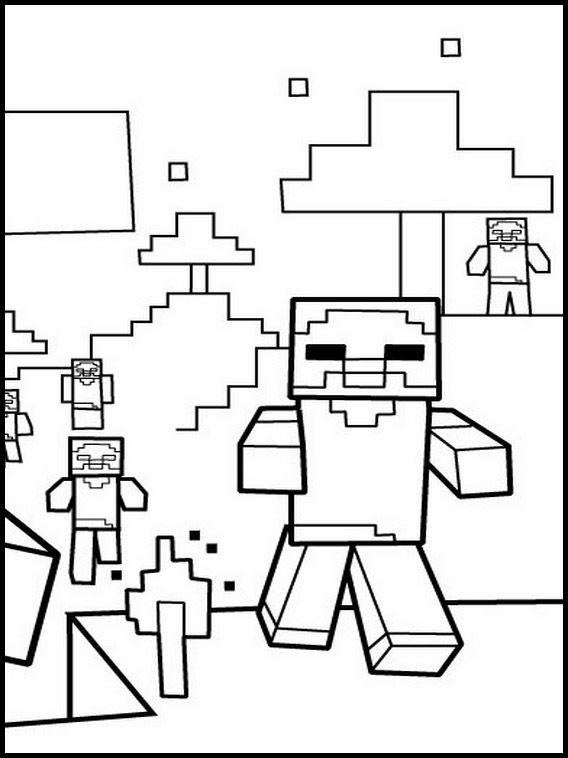 Minecraft 7 Ausmalbilder Fur Kinder Malvorlagen Zum Ausdrucken Und Ausmalen Malvorlagen Zum Ausdrucken Malvorlagen Minecraft Ausmalbilder