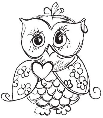 Owls - Rubber Stamps