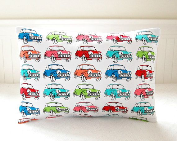 mini car pop art decorative pillow cover by LittleJoobieBoo, £16.00