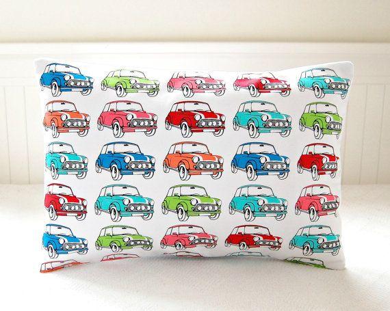 mini car pop art decorative pillow cover door LittleJoobieBoo, £16.00
